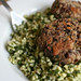 Bean burgers with tabbouleh