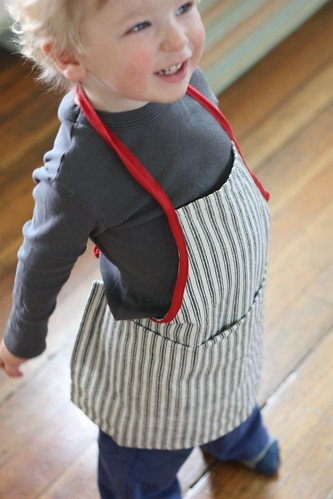 Tea Towel Toddler Apron