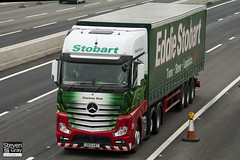 Mercedes-Benz Actros 6x2 Midlift Tractor - GK12 UAT - Charlotte Rose - Green & Red - 2012 - Eddie Stobart - M1 J10 Luton - Steven Gray - IMG_4701