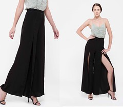 Shop At Lovebird Front Slit Pants