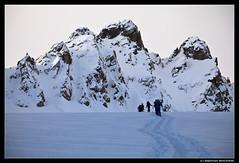 Podejście na szczyt Piz Kesch