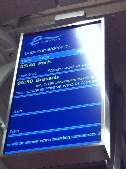 Waiting for the Eurostar