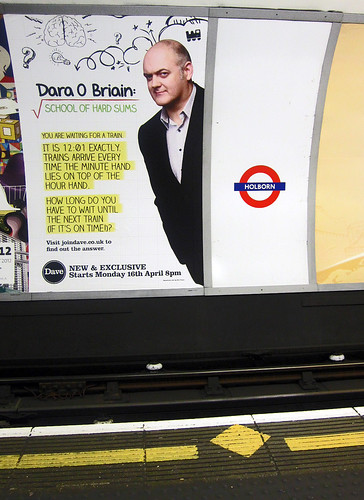 Dara O'Briain Maths London Underground Ad