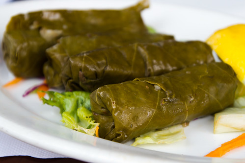Stuffed Grape Leaves at Anatolia Cafe