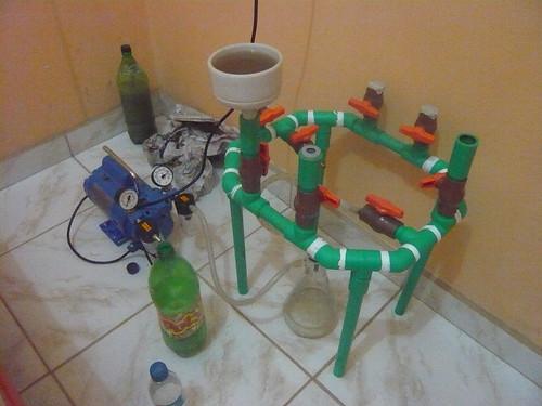 Estação de filtragem de sedimento.