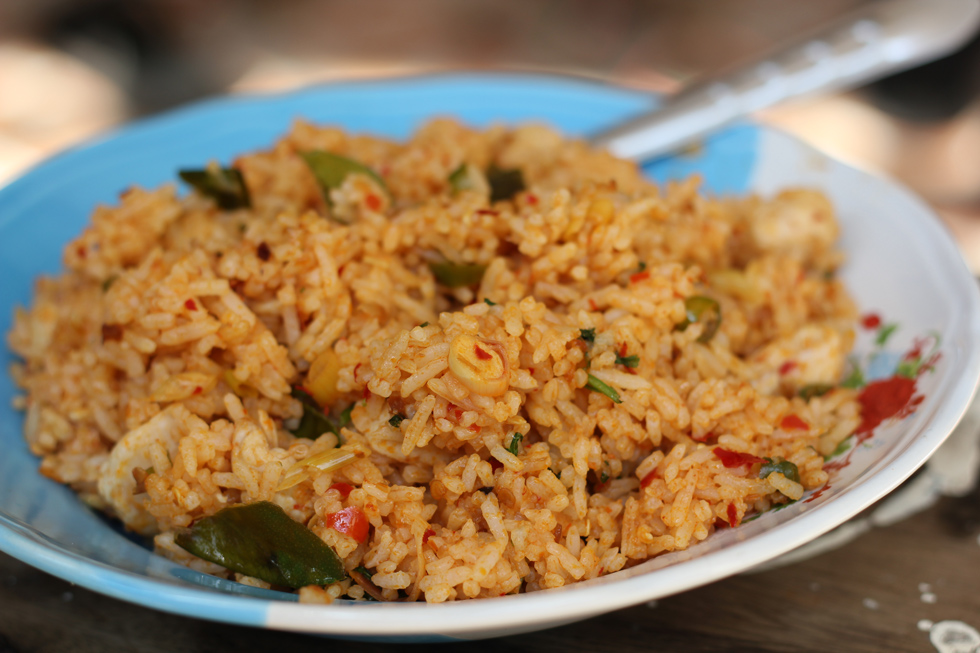 Thai tom yum fried rice