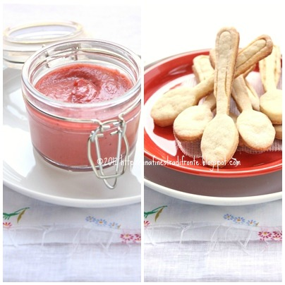 Curd di fragole (con olio evo) e cucchiaini di frolla (alla ricotta)