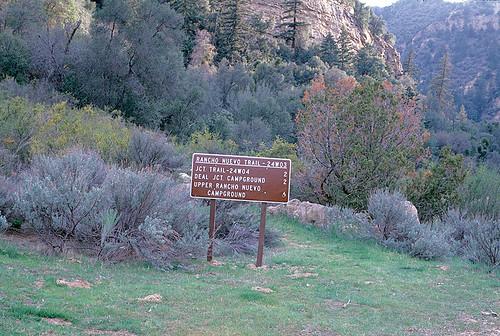 Rancho Nuevo trail head, June, 1985