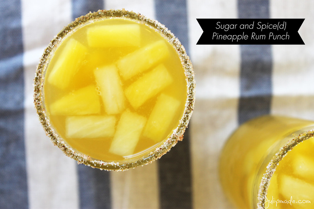 Julip Made: Sugar and Spice(d) Pineapple Rum Punch