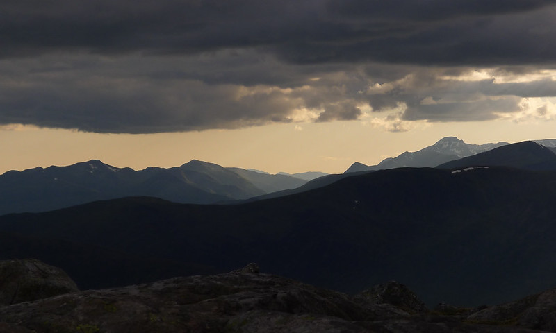 Evening light on Nevis and the Mamores
