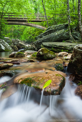 bridge mountain green water wooden cool rocks stream relaxing northcarolina appalachian lush craftsman refreshing streambed coldwater boonefork arched westernnorthcarolina wataugacounty southernappalachian