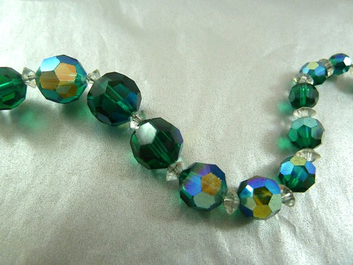 Green AB Crystal Necklace