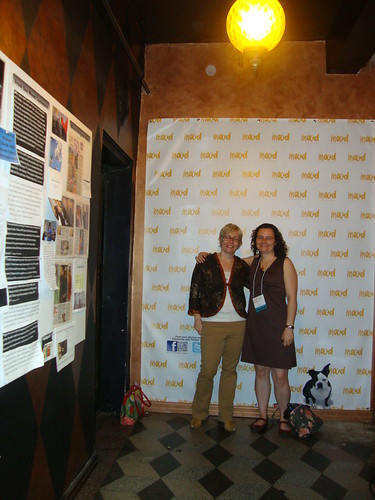 Karen and me with the Step and Repeat at Mood