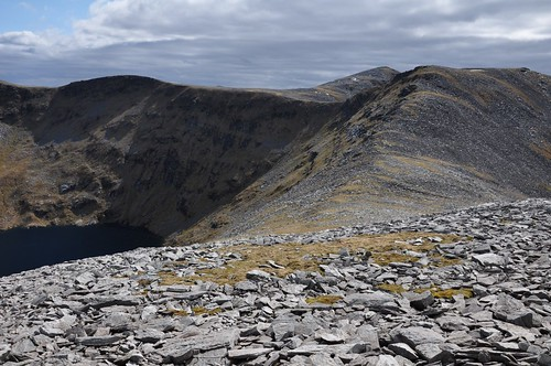 Ridge to point 761 with Meallan Liath Coire Mhic Dhughaill beyond