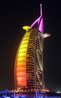 Bur Al Arab at Night
