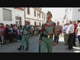 video 01 Periana procesión San Isidro Labrador 2012 desfile ante el Santo de La Legión Española