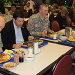 Rep. Gerlach (R-PA) shares a meal with Pennsylvania military members
