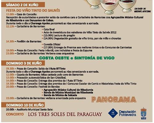 Ribadumia 2012 - XL Festa do Viño Tinto do Salnés en Barrantes - programa 2