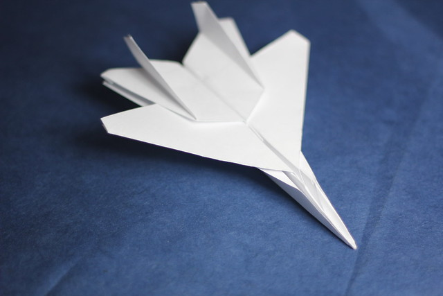 origami f15 jet fighter my new origami its been a long