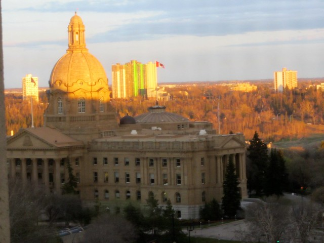 Alberta Legislature at Sunset