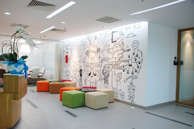 Wall graphic design by Dentsu MimAnyStudio designed this