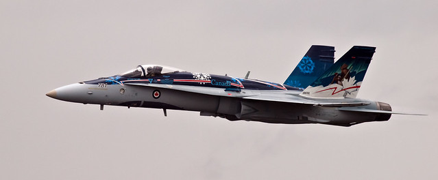 Canadian CF18 demo team