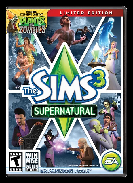 The Sims 3 Supernatural - Capa EUA
