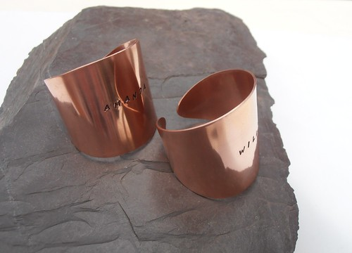 copper name napkin rings by greensladejenny