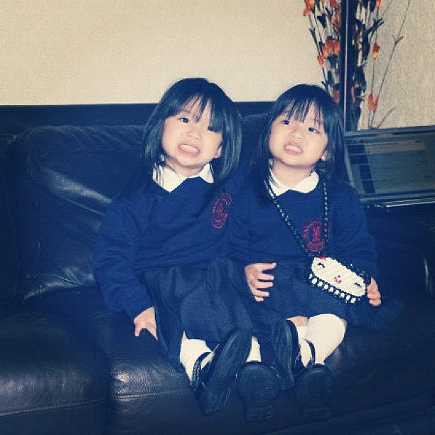 ... cute #twins #cousins #loved #small #school #uniform #instagram
