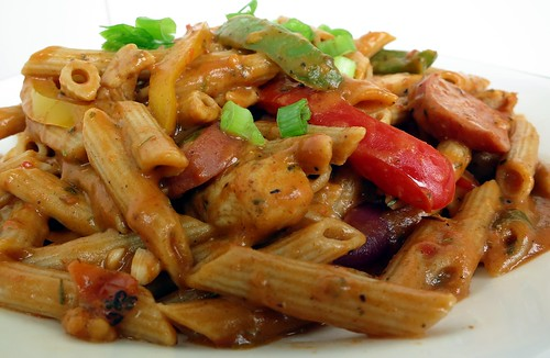 call it cajun chicken pasta jambalaya pasta or blackened chicken pasta ...