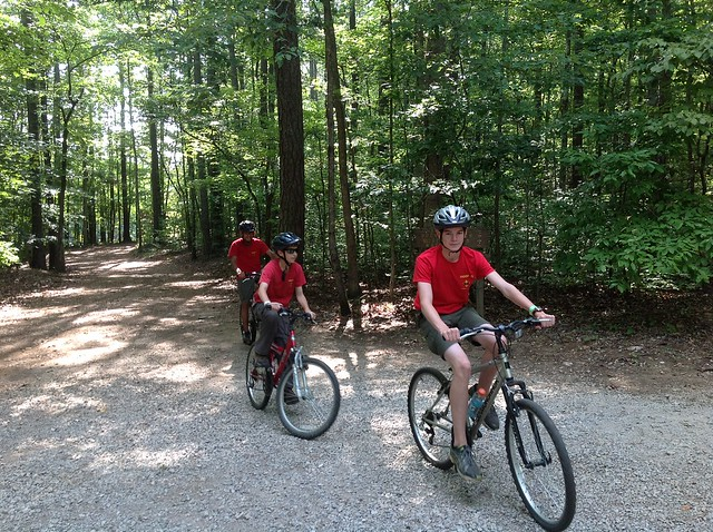 Boy Scout Camp: Mountain biking at Mount Cheaha