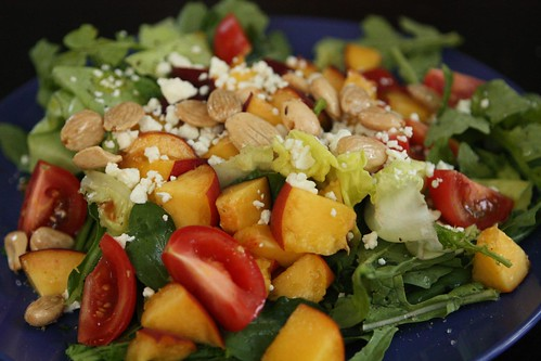 Peach and Arugula Salad with Feta