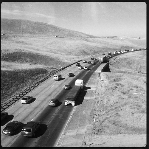 california road ca usa june train tracy noflash freeway commute interstate livermore trucking 2012 iphone eastbound 580 daveparker iphone365 hipstamatic jamesmlens rockbw11film