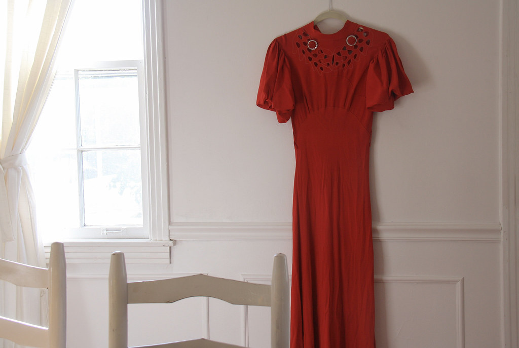 flea market finds: 1930s bias cut gown
