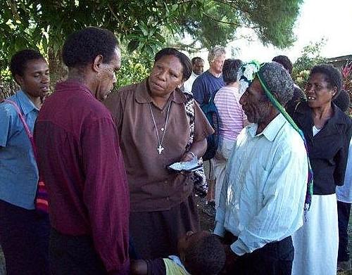 Sr Lorna visiting Callan Services, Goroka, PNG