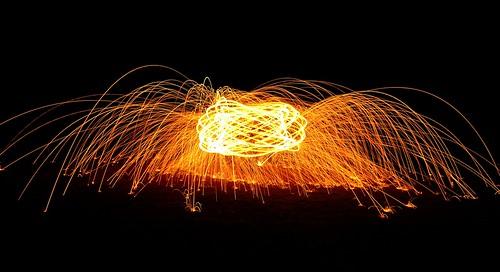 longexposure night fire nikon orb burning spinning sparks timedexposure steelwool d3100 devilducmike