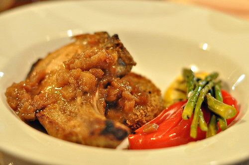 Roasted Karobata Pork Chop with Smoked Apples ~ Sonoma, CA