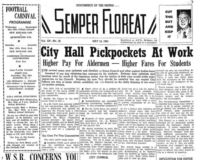 Semper Floreat 15/5/1951