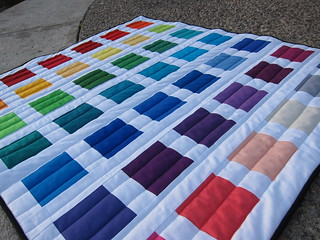 A first lesson in colour quilt