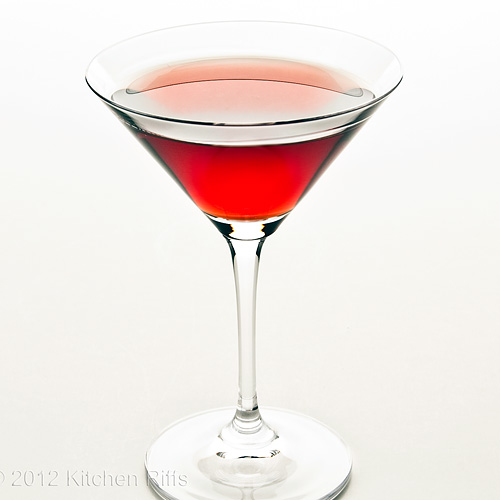 Betsy Ross Cocktail, White Background