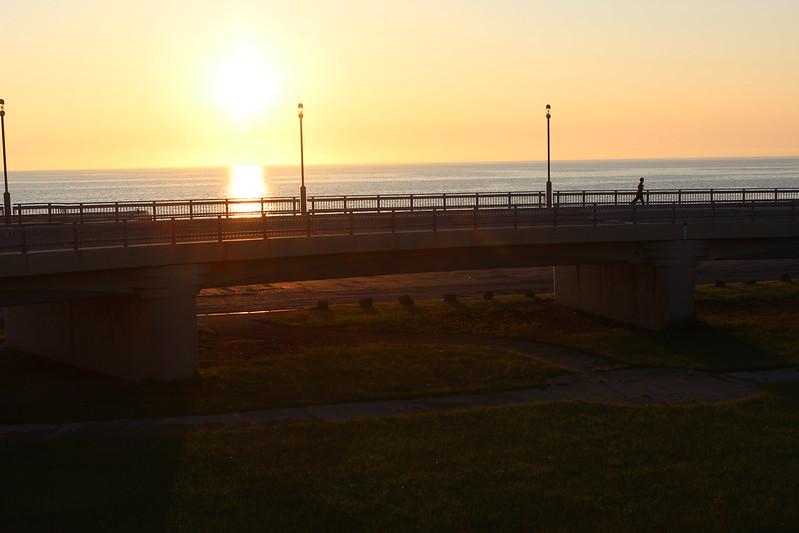 黄金岬近くからの夕日