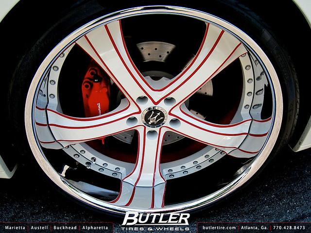 Maserati Granturismo with 22in Savini SV33 Wheels