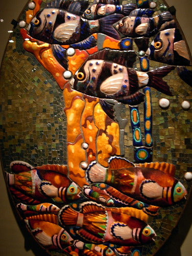 Mosaic with Fish by Leopold Forstner at Corning Museum