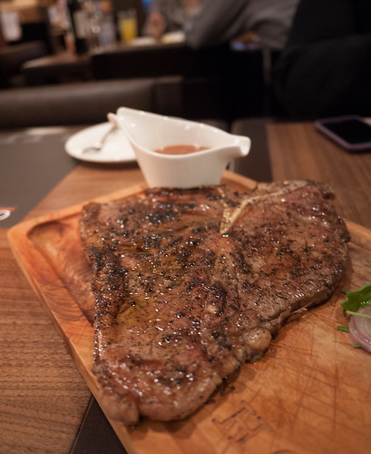 Angus beef porterhouse steak at Chops Chicago Steakhouse