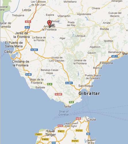 mapa arcos de la frontera - Google Maps