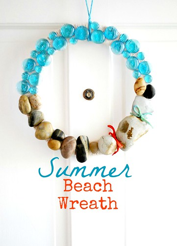 The Silly Pearl: Summer Beach Rock Wreath