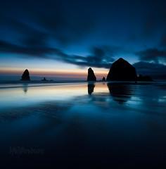 Haystack Rock sunset vertorama