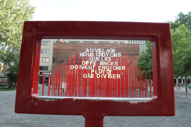 Great public art in the gay district, Montreal