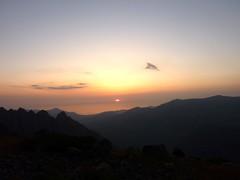 Bergeries de Scaffone : coucher du soleil vers Galeria