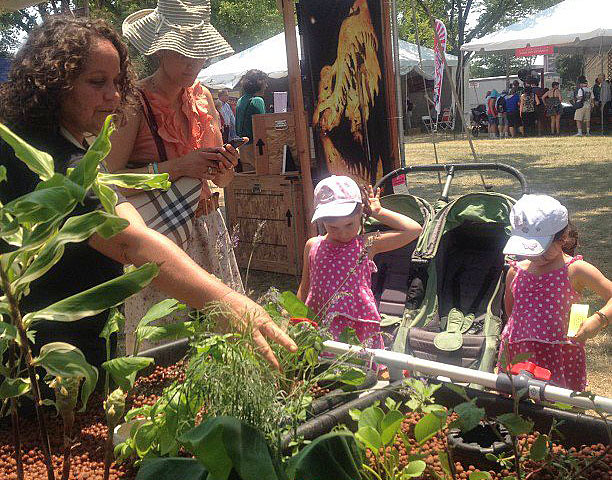 <p>Aquaponics exhibit at the Smithsonian Folklife Festival.</p>